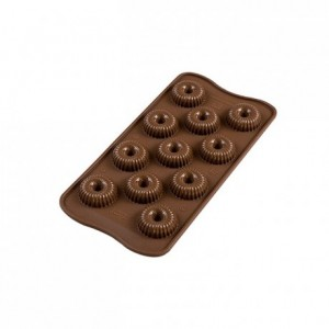 Crown chocolate silicone mould Ø 30 x 15 mm