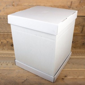 FunCakes Cake Box -Blanco 37x37x45cm