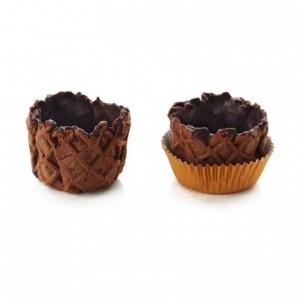 Basket crust cocoa La Rose Noire Ø40 mm (120 pcs)