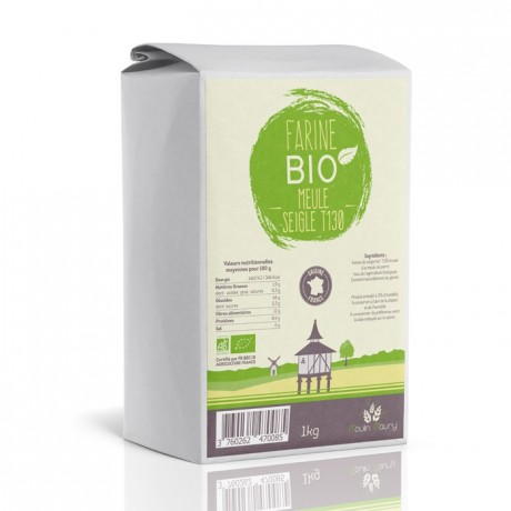 Organic rye flour T130 1 kg