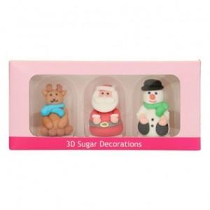FunCakes Sugar Decorations 3D Christmas Figures Set/3
