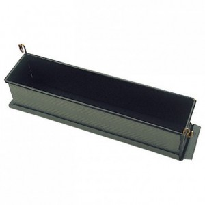 Long paté mould with clip with bottom Exopan 350 x 75 x 85 mm