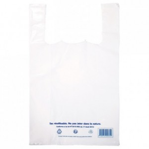 Carrier bag LDPE white 300 x 540 mm (400 pcs)