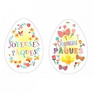 Edible Joyeuses Pâques egg shape (24 pcs)