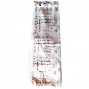 Bread bag Bioplast brown 450 x 120 (200 pcs)