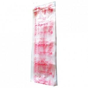 Bread bag Bioplast red 650 x 160 (200 pcs)
