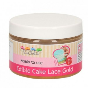 FunCakes Edible Cake Lace Gold 120g