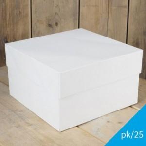 FunCakes Cake Box Blanco 25x25x15cm pk/25
