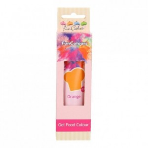 FunCakes Edible FunColours Gel Orange 30g