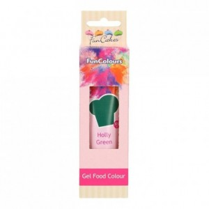 FunCakes Edible FunColours Gel Holly Green 30g