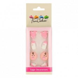 FunCakes Sugar Decorations Baby Girl Set/8