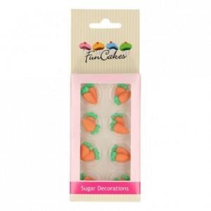 FunCakes Sugar Decorations Carrots Set/16