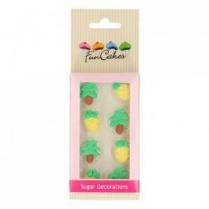FunCakes Sugar Decorations Pineapple & Palm Trees Set/12