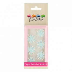 FunCakes Sugar Paste Decorations Snowflakes Set/6