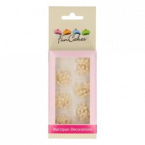 FunCakes Marzipan Decorations Chrysanthemum White/Light Pink