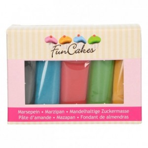 FunCakes Marzipan Multipack Essential Colours 5x100g
