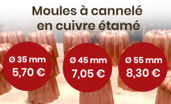 moule à cannelé en cuivre étamé, made in france